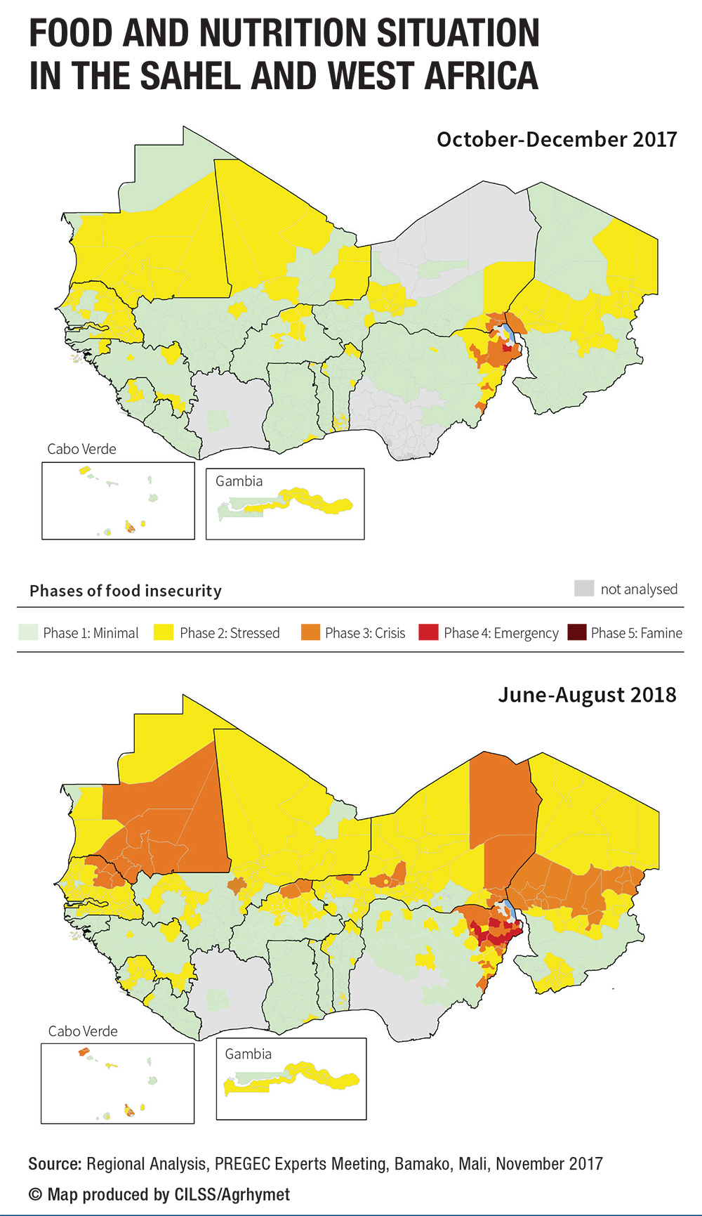 Maps sahel and west africa club secretariat food and nutrition situation in the sahel and west africa ccuart Image collections